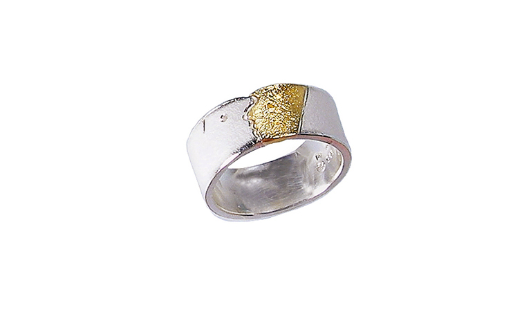 12716-Ring, Silber 925, 750 Gold