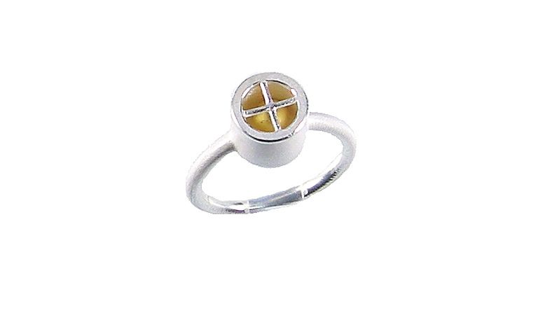 12837-Ring, Gold 750, Silber 925