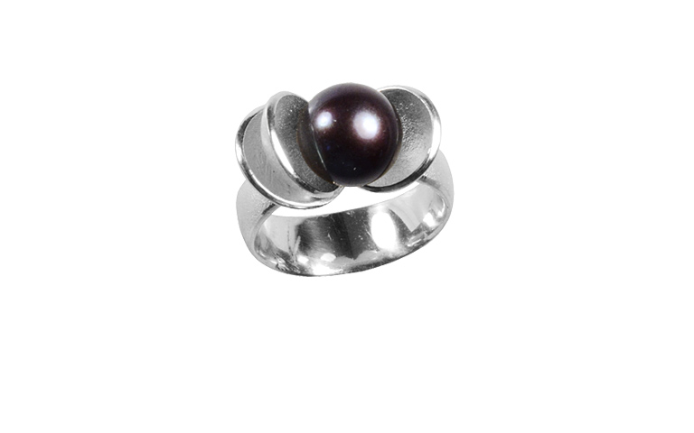 32039-Ring, Silber 925 mit Perle