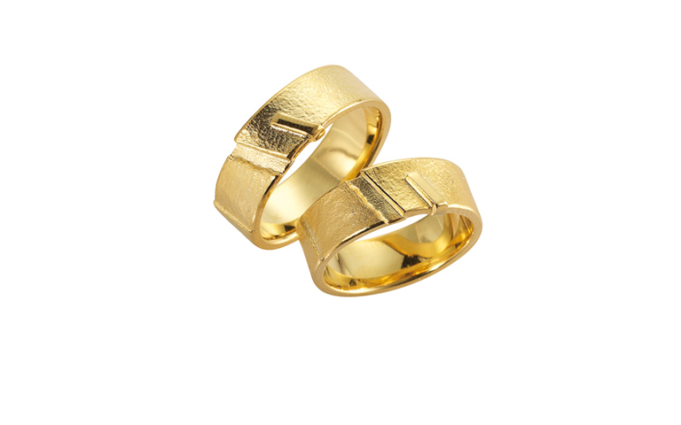 05097+05098-Trauringe, Gold 750