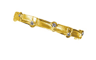 04338-bracelet, gold 750 with brillants