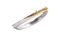 14242-bracelet, silver 925 with gold 750 and brilliant