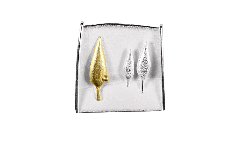 10333-brooch, silver 925 and gold 750