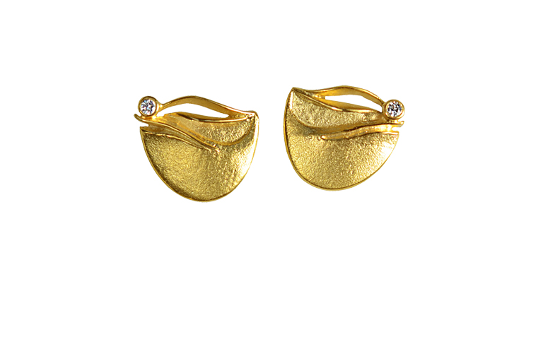 07116-earings, gold 750 with brillants