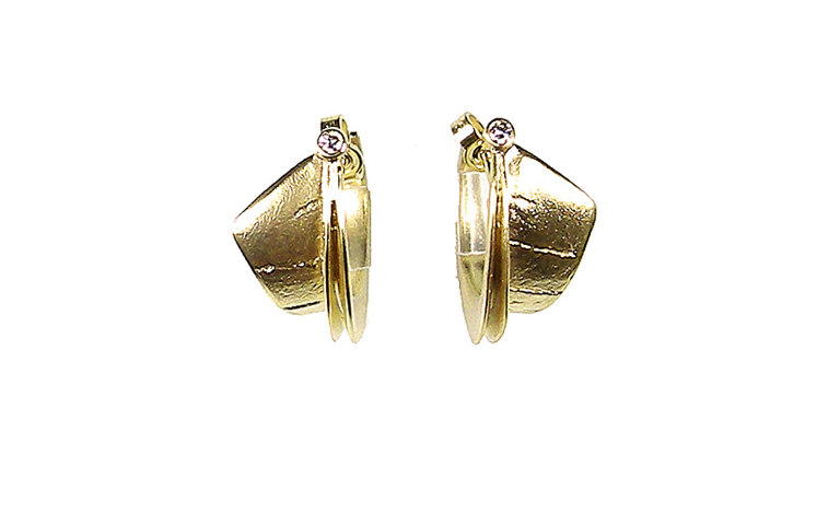 07142-earrings, gold 750 and brilliant