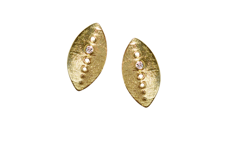 07189-earrings, gold 750 and brilliants