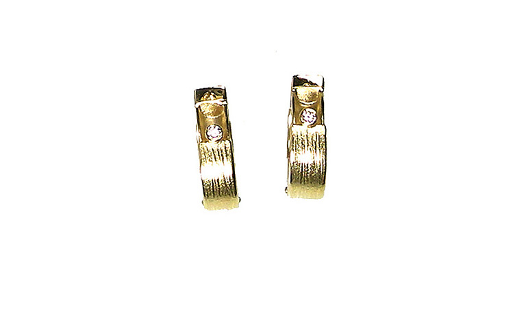 07276-earrings, gold 750 and brilliants