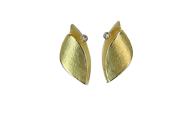 07313-earrings, gold 750 and brilliant