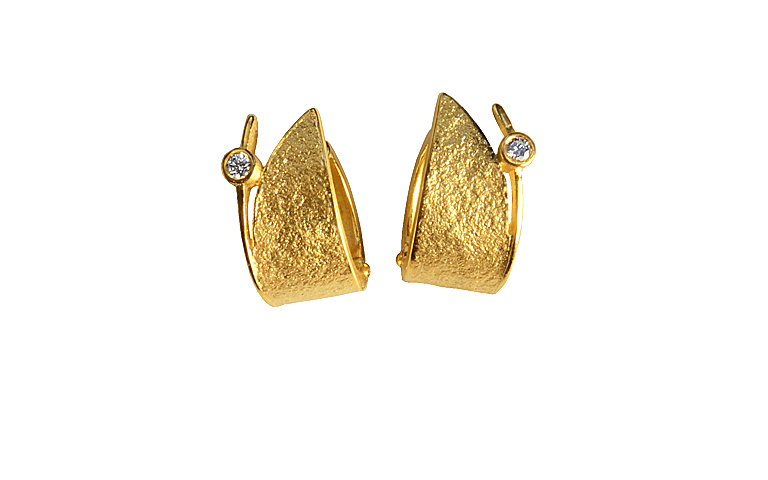 07322-earings, gold 750 with brillants