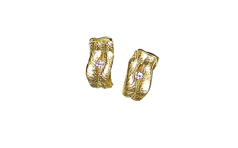 07336-earrings, gold 750 and brilliants