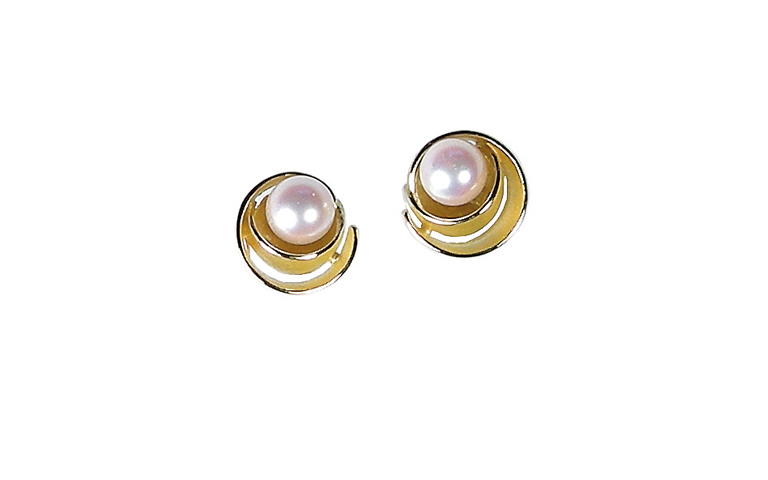 07337-earrings, gold 750 and pearls
