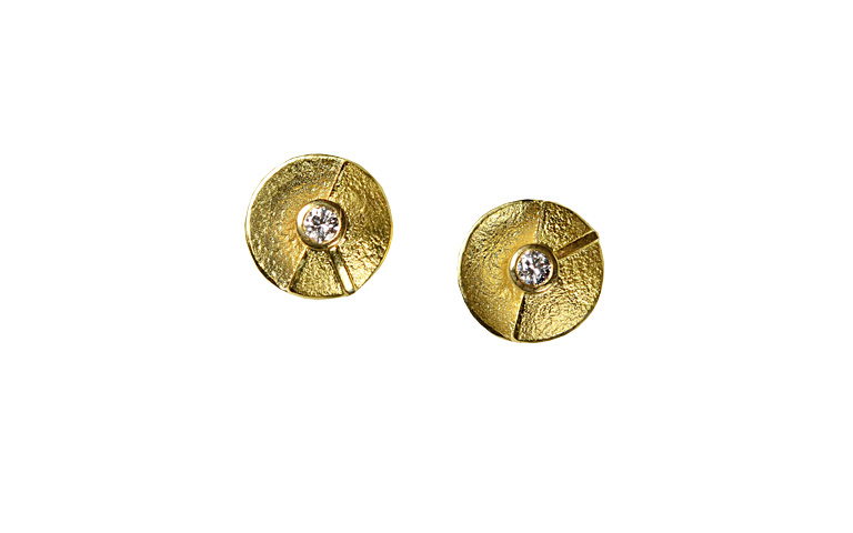 07340-earings, gold 750 with brillants