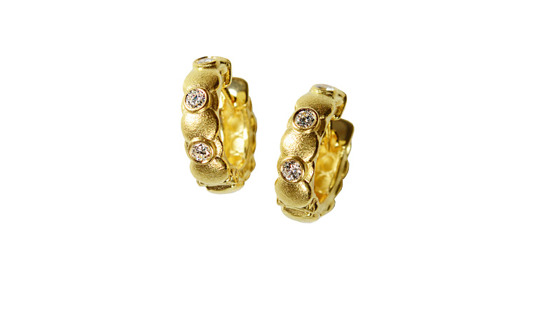 07342-earings, gold 750 with brillants