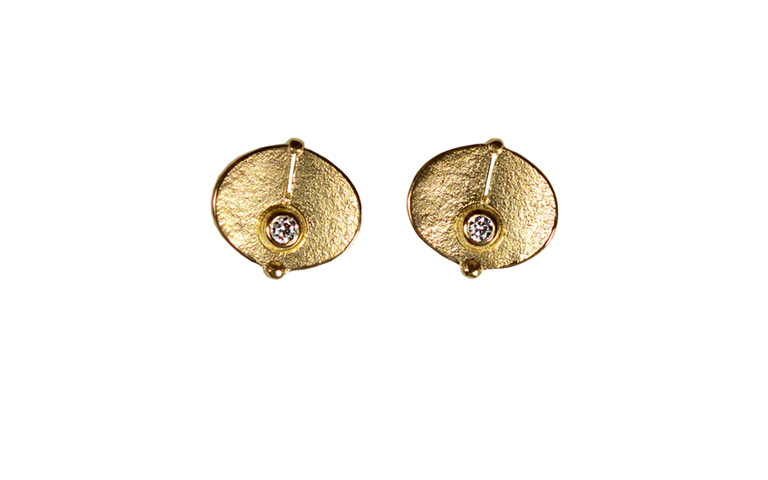 07343-earrings, gold 750 and brilliants