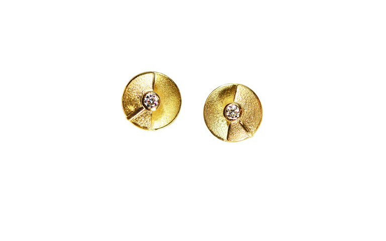 07344-earrings, gold 750 and brilliants