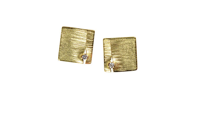 07346-earrings, gold 750 and brilliants