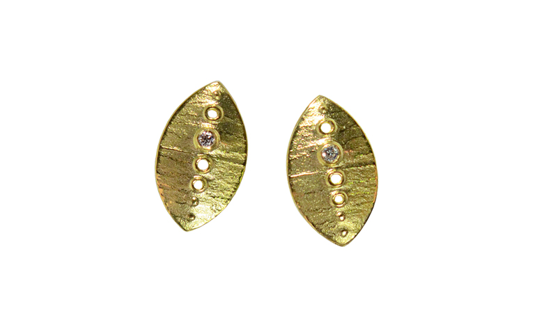 07347-earrings, gold 750 and brilliants