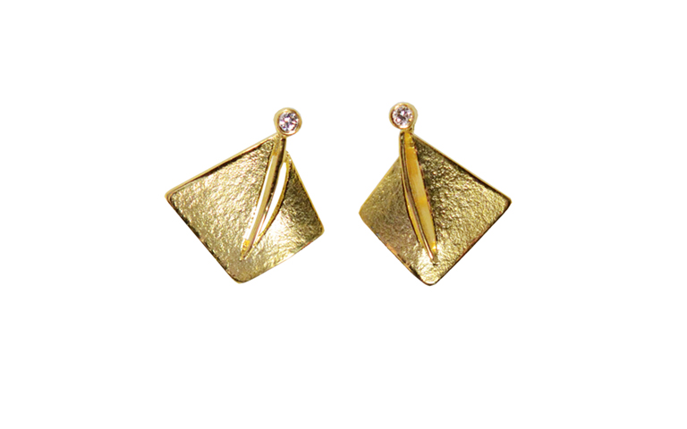 07348-earrings, gold 750 and brilliants