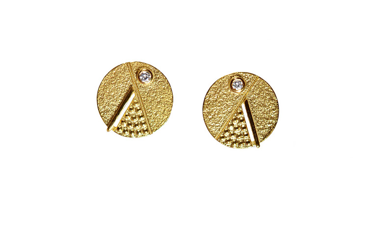 07350-earrings, gold 750 and brilliants