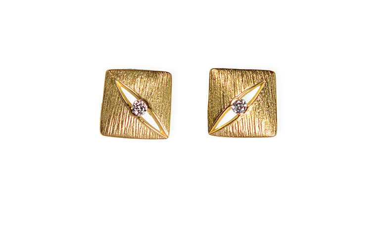 07351-earrings, gold 750 and brilliants