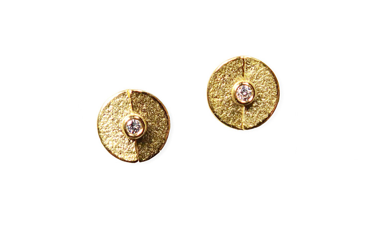 07352-earrings, gold 750 and brilliants