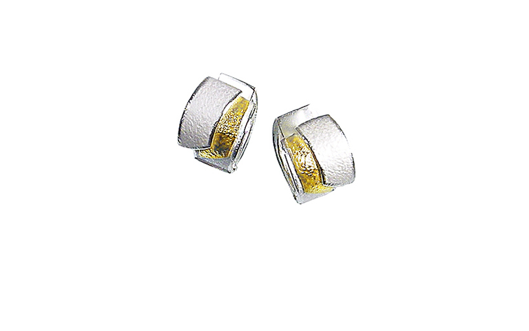 15413-earrings, silver 925 and gold 750