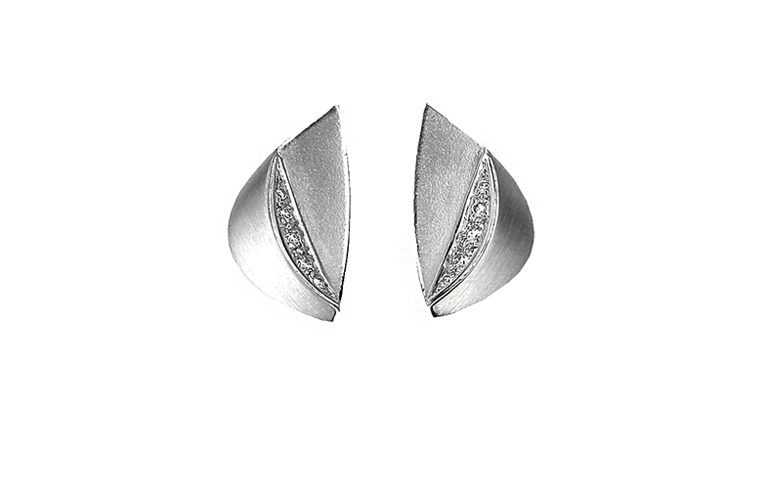 47017-earrings, whitegold 750 with brillants