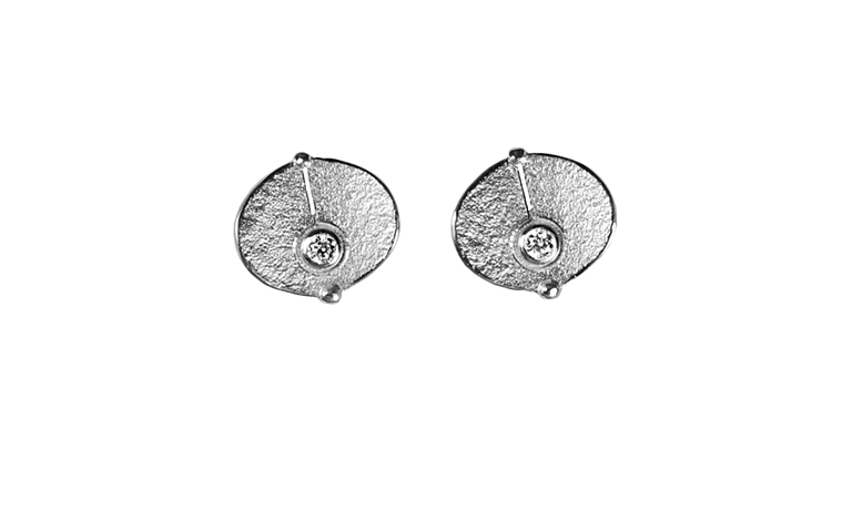 47343-earrings, white gold 750 and brilliants