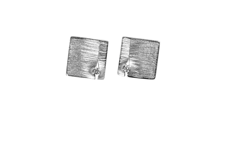 47346-earrings, white gold 750 and brilliants