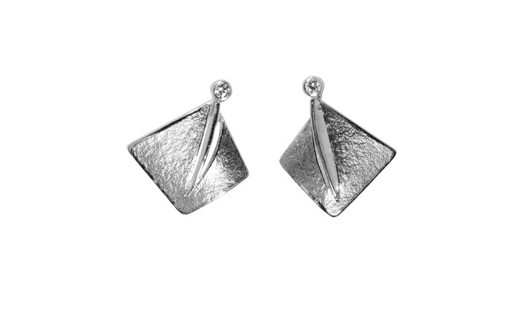 47348-earrings, white gold 750 and brilliants