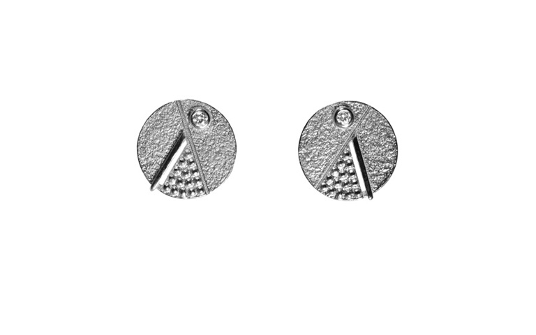 47350-earrings, white gold 750 and brilliants