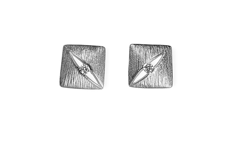 47351-earrings, white gold 750 and brilliants