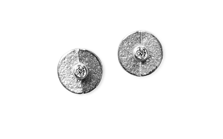 47352-earrings, white gold 750 and brilliants