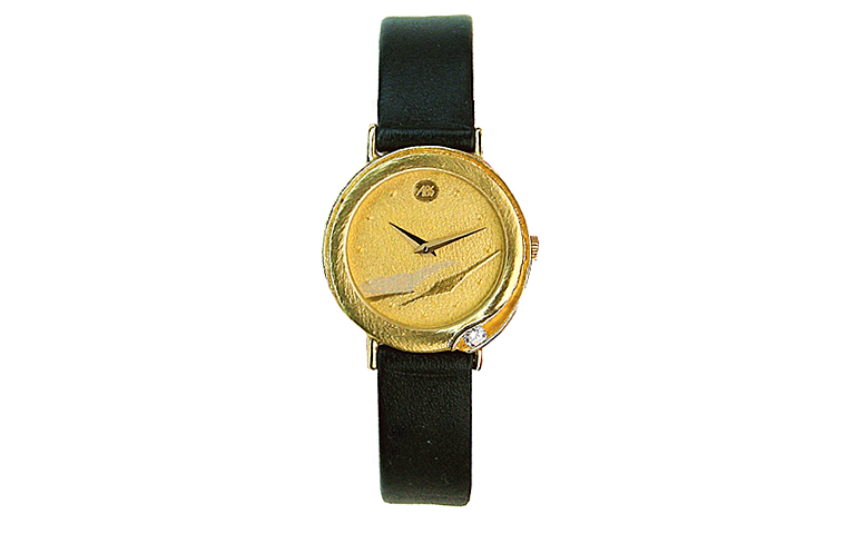 06135-watch, gold 750 with brillant