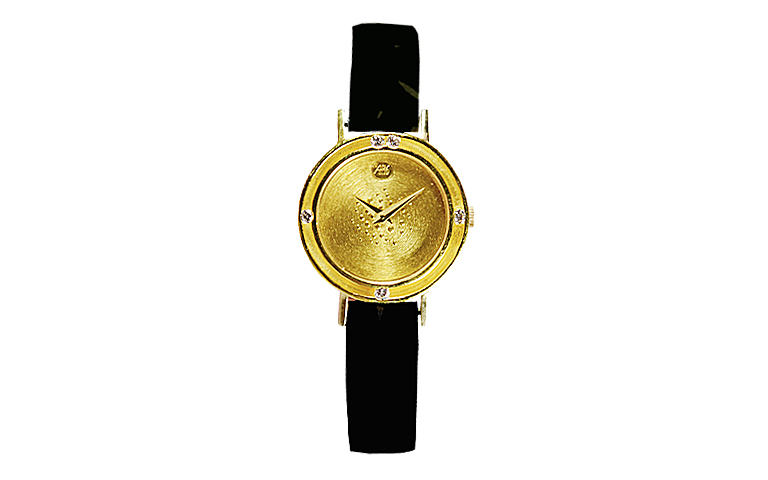 06282-watch, gold 750 with brillants
