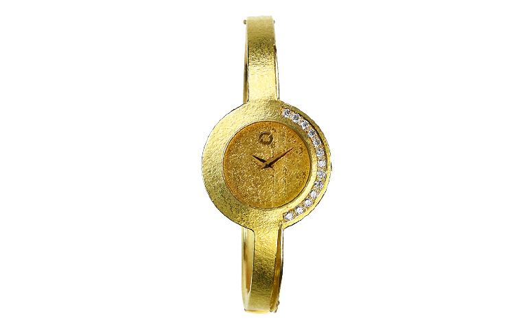 06286-watch, gold 750 with brillants