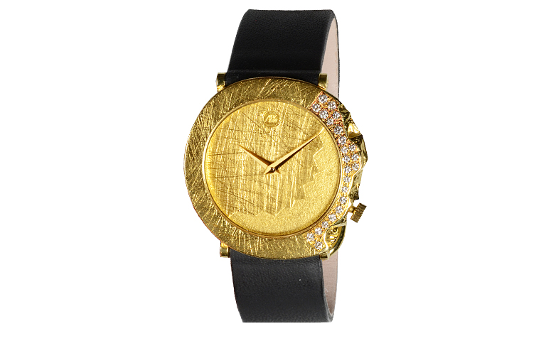 06288-watch, gold 750 with brillants