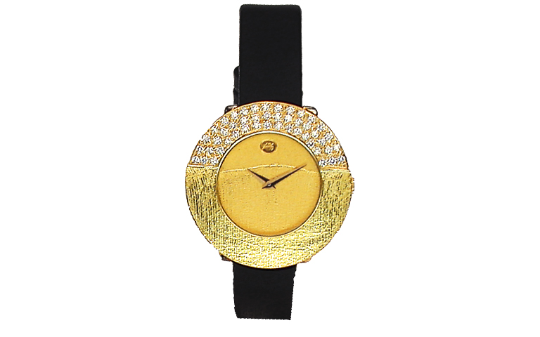 06291-watch, gold 750 with brillants