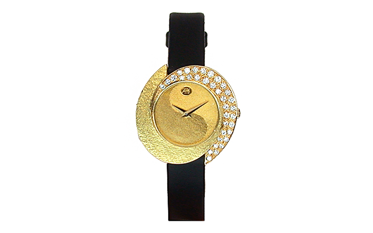 06297-watch, gold 750 with brillants