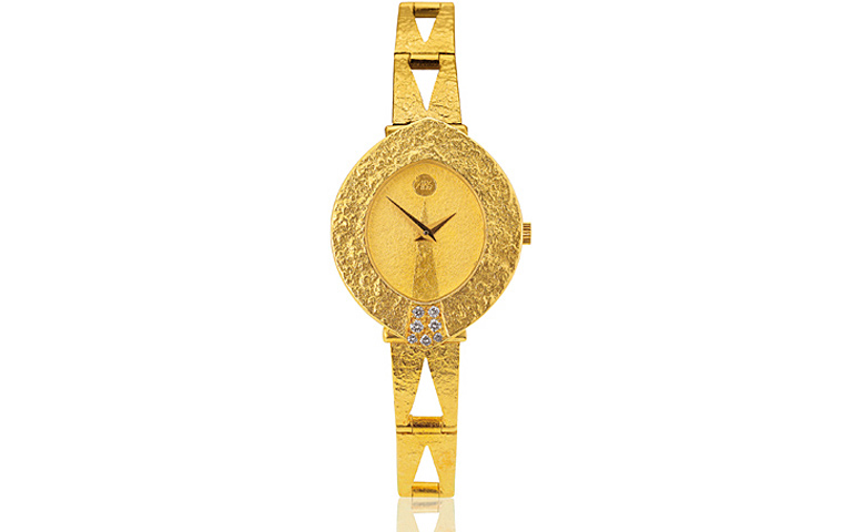 06327-watch, gold 750 with brilliants