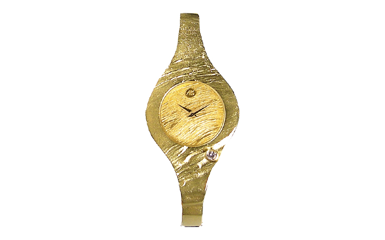 06332-watch, gold 750 with brillant
