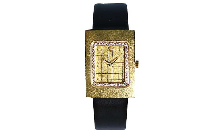 06348-watch, gold 750 with brilliants