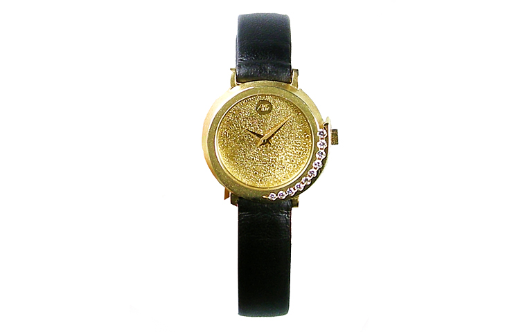 06357-watch, gold 750 with brillants