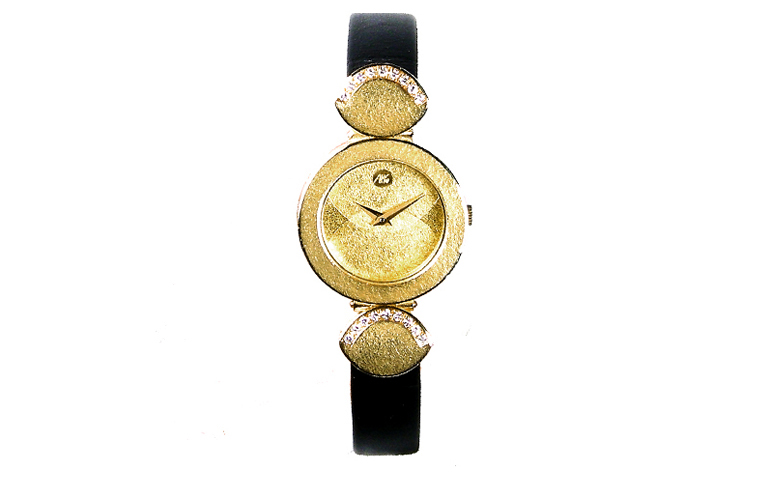 06358-watch, gold 750 with brilliants