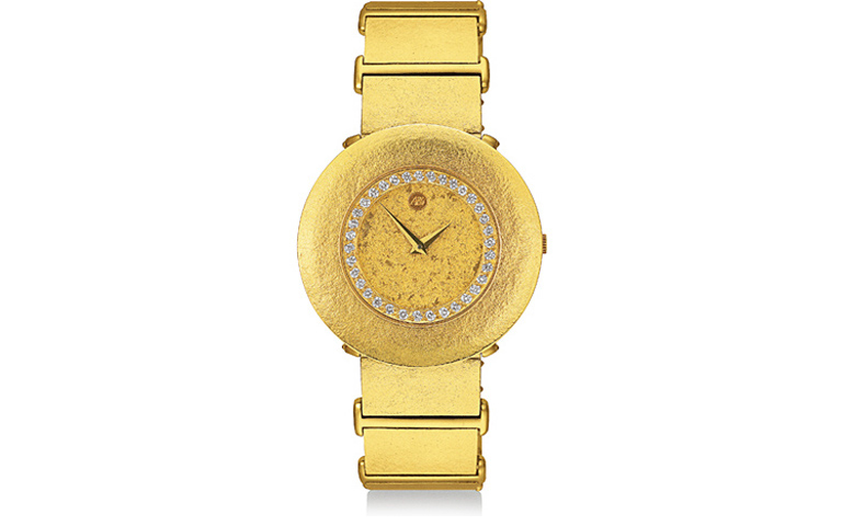 06362-watch, gold 750 with 35 brilliants, vvi tw, 0,52 ct