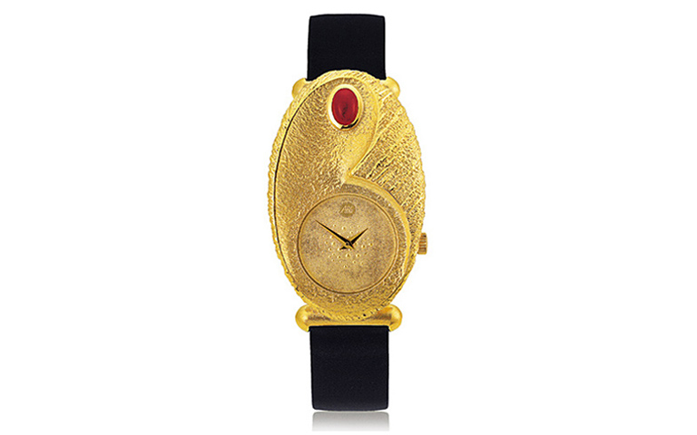 06366-watch, gold 750 with a ruby