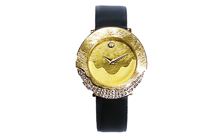 06375-watch, gold 750 with brilliants
