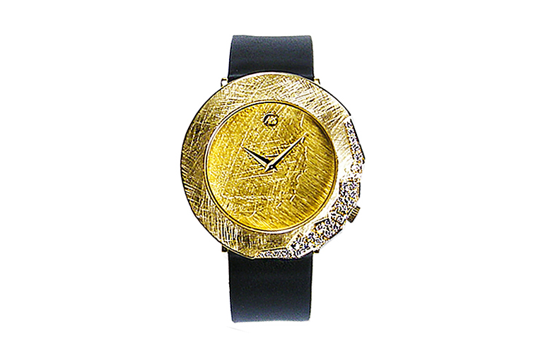 06376-watch, gold 750 with brilliants