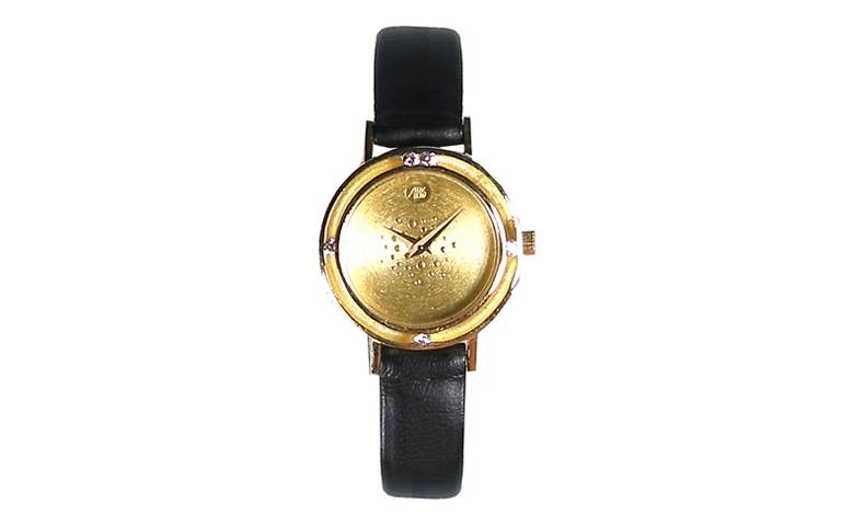 06382-watch, gold 750 with brilliants