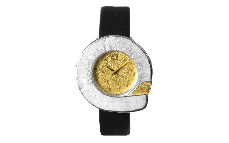 16062-watch, silver 925 with gold 750